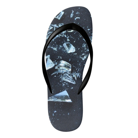 Image of Flinchies (TM) Broken Glass Flip Flops