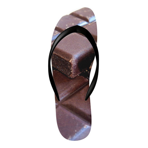 Flinchies (TM) Chocolate Flip Flops