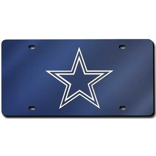 Dallas Cowboys License Plate Laser Cut Navy