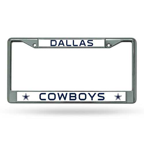 Dallas Cowboys License Plate Frame Chrome