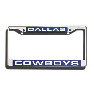 Dallas Cowboys Laser Cut Chrome License Plate Frame