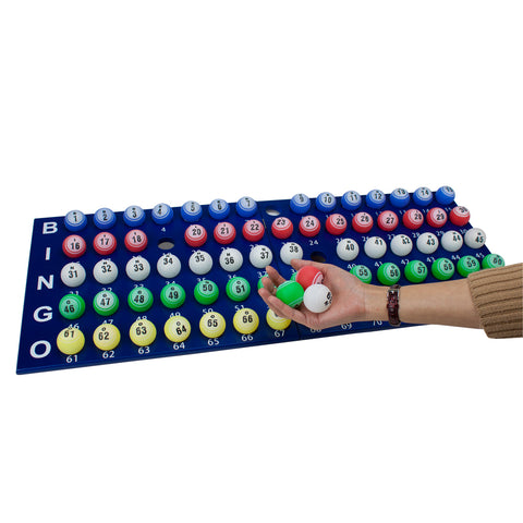 "Image of Professional Bingo Set w/ 19"" Cage, 1.5"" Balls, & Wood Board"