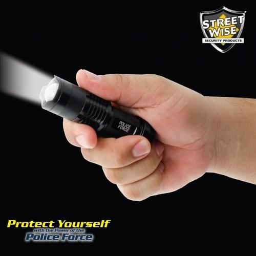 Police Force Mini Tactical Q5 LED Flashlight - cases of: [100] items