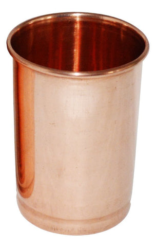 Image of Set of 2 Ayervedic Hand Crafted Pure Copper Water Glasses