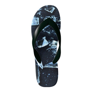 Flinchies (TM) Broken Glass Flip Flops