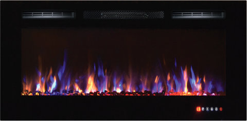 Image of Napoleon Allure Series NEFL50FH Indoor Electric Fireplace with 5,000 BTU Heating Power, Flush Installation Option, Front Vents, Remote Control, 3 Flame Color Options and Paintable Cord Cover: 50 Inch Width