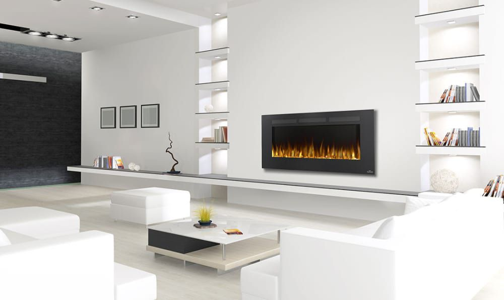 Napoleon Allure Series NEFL50FH Indoor Electric Fireplace with 5,000 BTU Heating Power, Flush Installation Option, Front Vents, Remote Control, 3 Flame Color Options and Paintable Cord Cover: 50 Inch Width