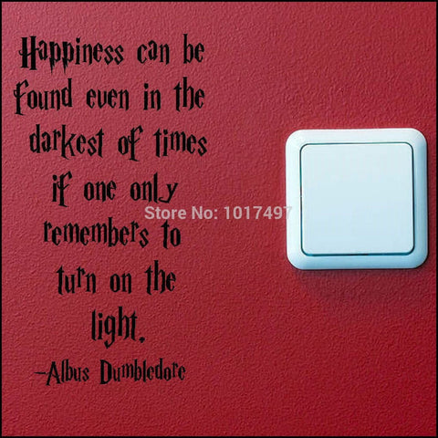 Image of DumbleDore Quote re Happiness
