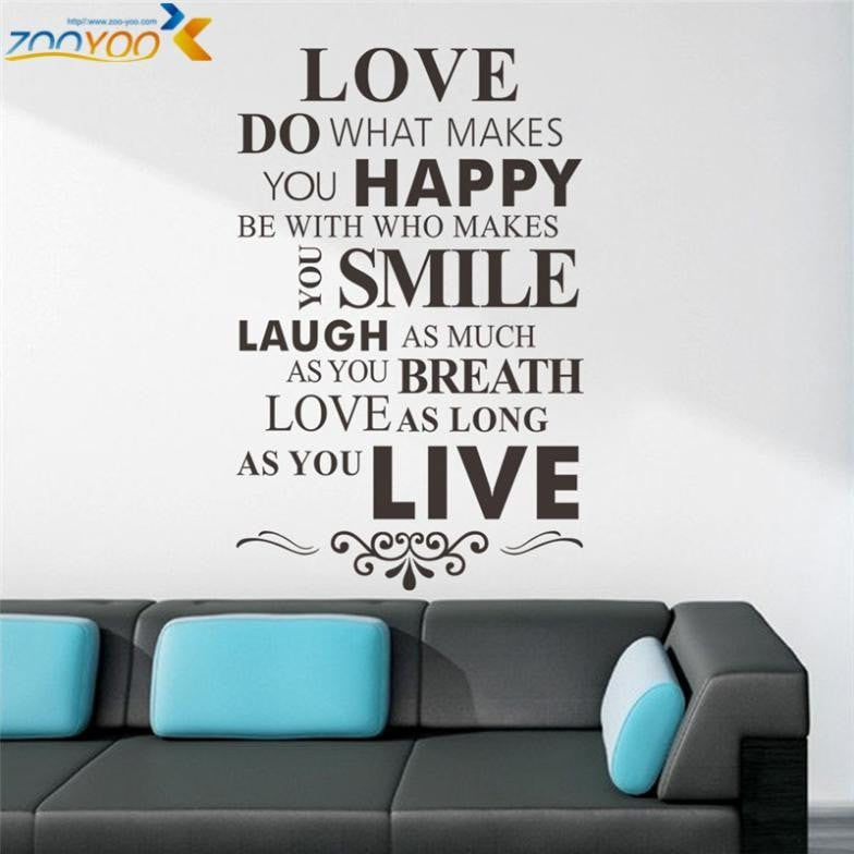 Choose Happiness Inspiring Wall Decal