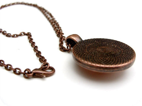 Image of Vintage Bronze / Copper Cthulhu Pendant on Long Chain
