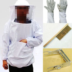 Smock, Veil, Gloves, Brush & Frame Holder