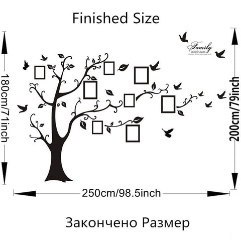 Image of Family Tree Wall Decal with Photo Frames