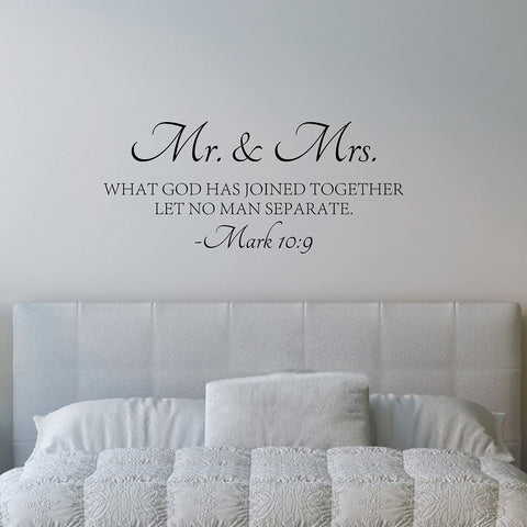 Mr & Mrs Wall Decal Quote