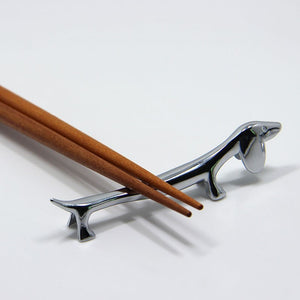 Four Fabulous Dachshund Chopstick Holders