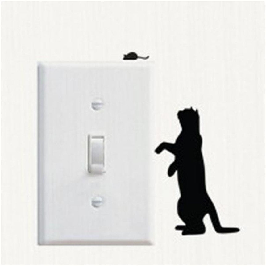 Cat LightSwitch Decal