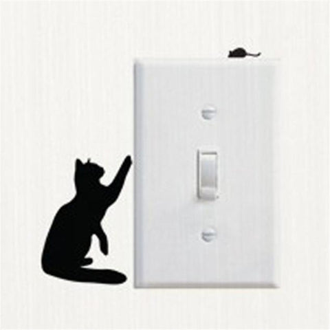 Image of Cat LightSwitch Decal