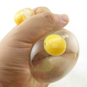 Squeezable Squashed Egg Stress Reliever