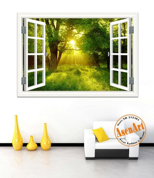 Peaceful Garden Sunlight Wall Decal