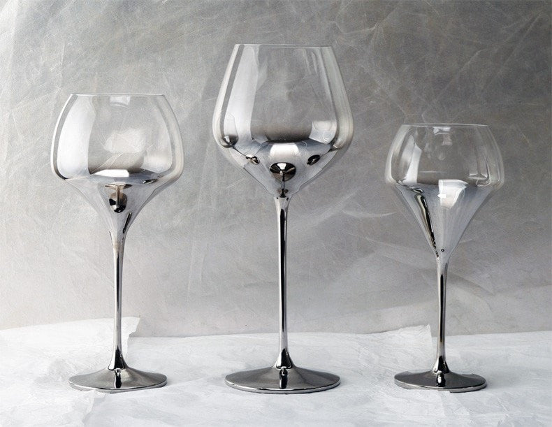 Luxury Silver Crystal Mix & Match Wine Glasses & Decanters