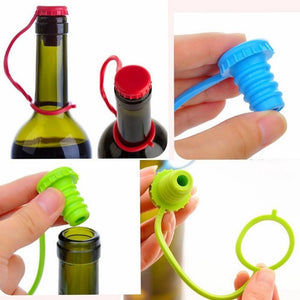 Attachable Silicone Beer Wine Bottle Stopper