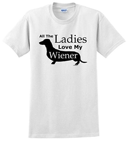 Image of Love My Wiener Dachshund  T Shirts