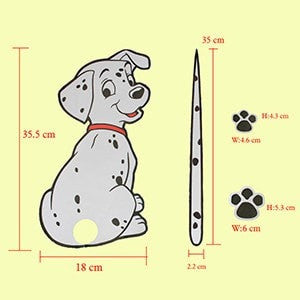 Cute Dalmation Car Decal