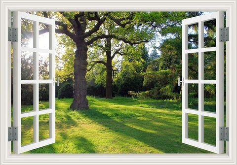 Image of Peaceful Garden Sunlight Wall Decal