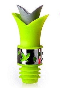 Leak Proof Lily Wine Bottle Stopper & Anti Spill Pouring Lip
