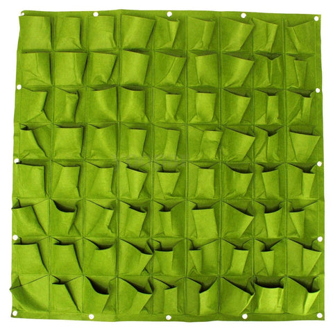 Image of 72 Pocket Vertical Wall Planting Bag - Green