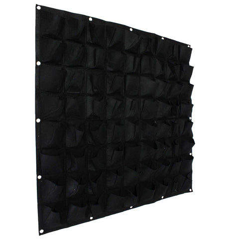 Image of 72 Pocket Vertical Wall Planting Bag - Black