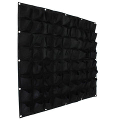 72 Pocket Vertical Wall Planting Bag - Black