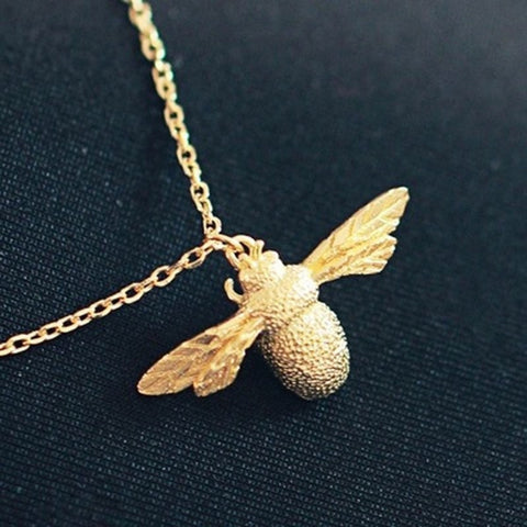 Image of Silver / Gold Honey Bee Statement Pendant