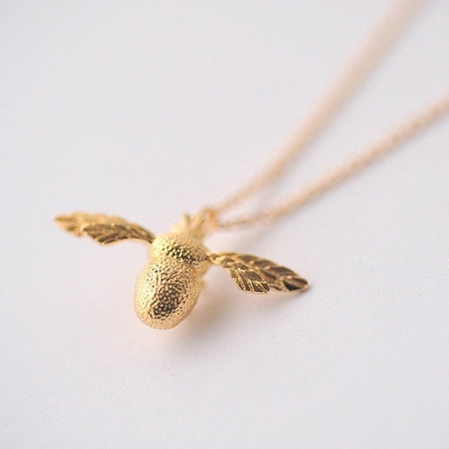 Silver / Gold Honey Bee Statement Pendant