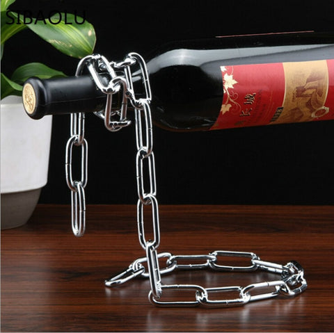 Image of Chain Link Wine Holder