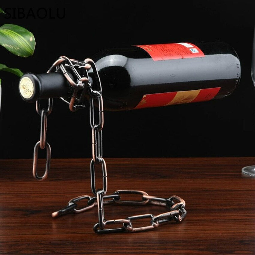 Chain Link Wine Holder