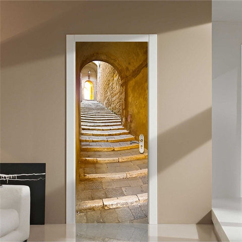 Ancient Stone Staircase & Arch Decal