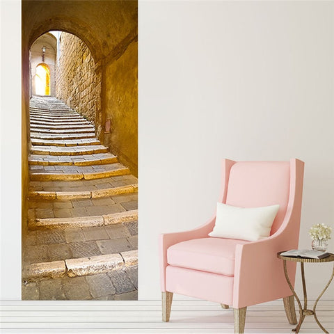 Image of Ancient Stone Staircase & Arch Decal