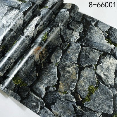 Image of 3D Stack Stone Wall Paper