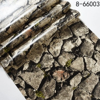 3D Stack Stone Wall Paper