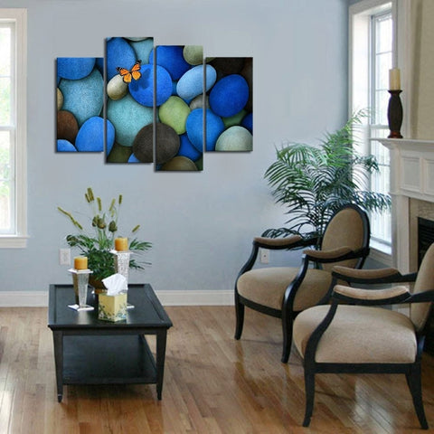 Image of Blue Stone Butterfly Canvas