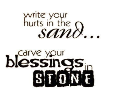 Image of Blessings in Stone Wall Decal