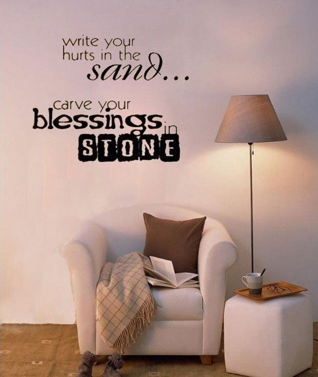 Blessings in Stone Wall Decal