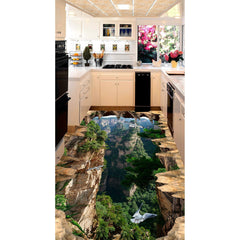 3D Stereoscopic Mountains Decal