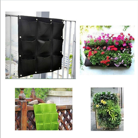 9 Pocket Vertical Planter