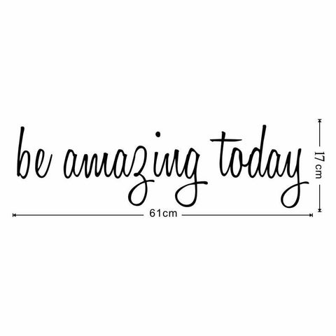 Image of Be Amazing Today Mirror Decal