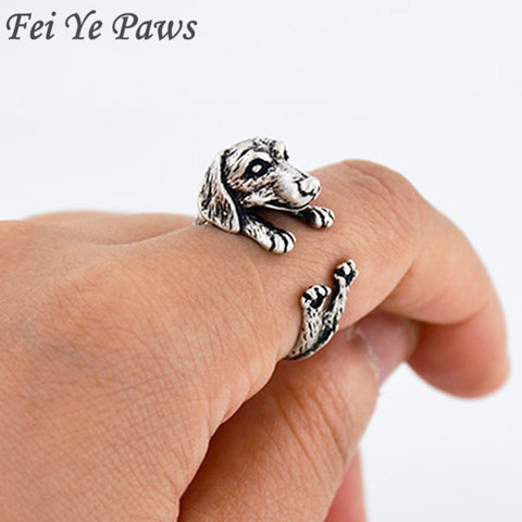 Image of Vintage Dachshund Adjustable Ring