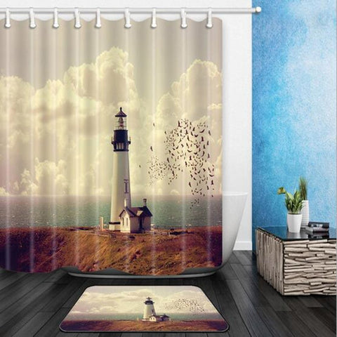 Image of Shower Curtain Periodic Table / Map / Octopus / Lighthouse / Feather