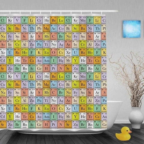 Image of Periodic Table Shower Curtains