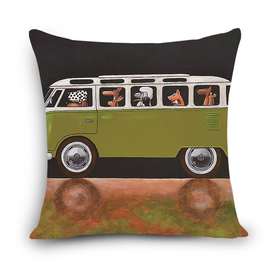 Dogs in the Combi Cushion Covers