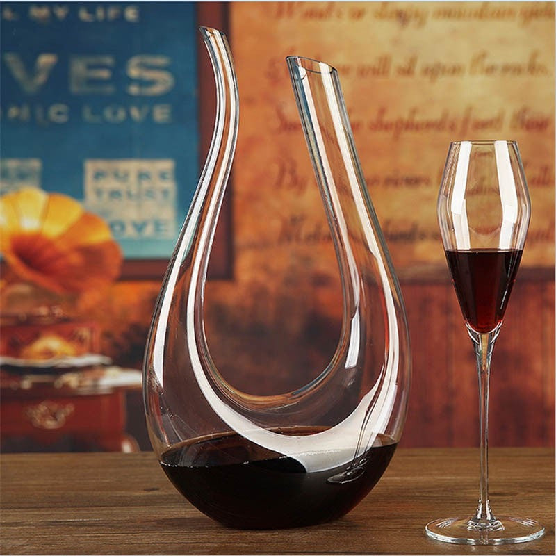 Waterford Style Crystal Swan Wine Decanter